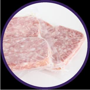冷凍された肉